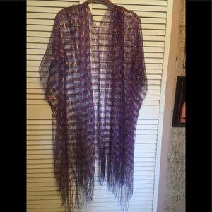 Sweaters - Fringed Kimono